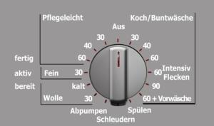 Moderne Waschmaschinen haben viele besondere Waschprogramme