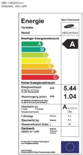 Samsung WD80J6400AWEG Waschtrockner / 8kg Waschen / 1088 kWh / SchaumAktiv Technologie / weiß - 2