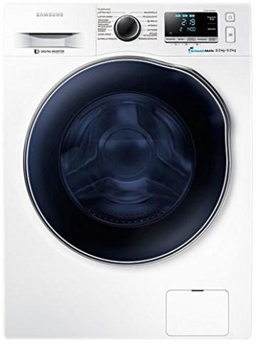 Samsung WD80J6400AWEG Waschtrockner / 8kg Waschen / 1088 kWh / SchaumAktiv Technologie / weiß - 1