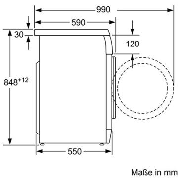 Siemens iQ300 WM14E425 iSensoric Waschmaschine / A+++ / 1400 UpM / 7 kg / weiß / VarioPerfect / WaterPerfect / Super15 - 11