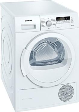 Siemens iQ700 WT46W261 iSensoric Wärmepumpentrockner / A++ / 8 kg / weiß / Selbstreinigender Kondensator / softDry-Trommelsystem / Super40 - 1