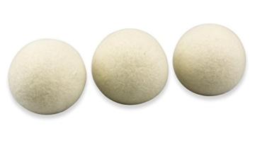 Trocknerbälle & Trocknerkugeln aus 100% echter Neuseeland-Wolle (3) - schonender Weichspüler - 3