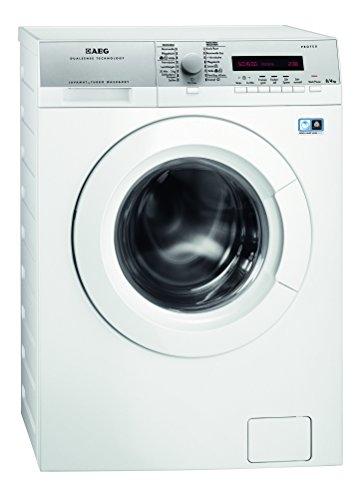 AEG L16850A5 Waschtrockner / A / 1600 UpM / 1086 kWh / 8 kg Waschen / 4 kg Trocknen / Dampfprogramme / 1kg in 60 Min.-Programm / Aqua-Alarm / weiß - 1