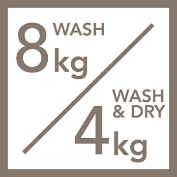 AEG L16850A5 Waschtrockner / A / 1600 UpM / 1086 kWh / 8 kg Waschen / 4 kg Trocknen / Dampfprogramme / 1kg in 60 Min.-Programm / Aqua-Alarm / weiß - 6