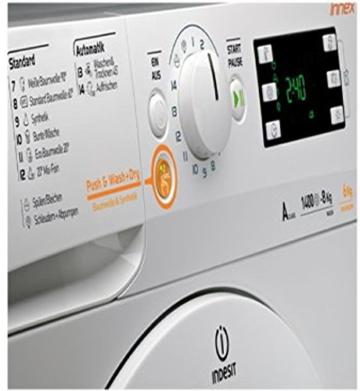 Indesit XWDE 861480X W DE Innex Waschtrockner / 1088 kWh/Jahr / 10000 Liter/Jahr / 8 kg Waschen / 6 kg Trocknen / Inverter-Motor / weiß - 7