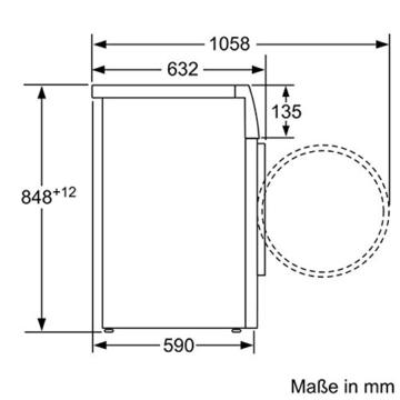 Siemens WD15G442 Waschtrockner / 1088 kWh / 8kg Waschen / 5kg Trocknen / Großes Display mit Endezeitvorwahl / weiß - 6